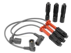 Mercedes6cyl (93-99) Spark Plug Wire Set (3 wires + 3 plug connectors) - Beru Spark Plug Wires