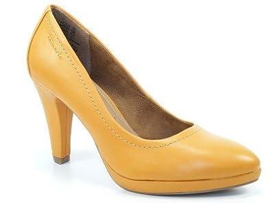 156010a08cd2f Tamaris Schuhe Plateau Pumps High Heels Stiletto curry 1-22411-29 ...