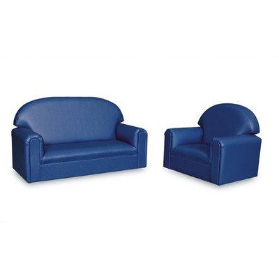 Blue Vinyl Sofa - 7