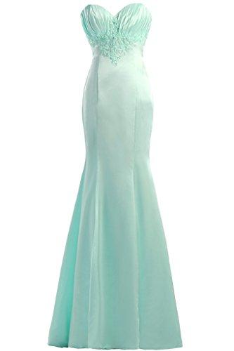 En forma de corazón de la Toscana novia hermosa sirena de satén vestidos de fiesta de fútbol por la noche vestidos de fiesta de largo Verde