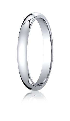 Womens-Platinum-3mm-Slightly-Domed-Standard-Comfort-Fit-Ring