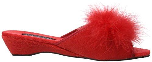 Lotus - Zapatillas de casa para mujer Red