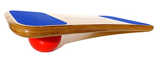 """CoolBoard Balance Board –The only true full 3D / 360 balance & exercise training board – Large with Quickness Speed 5"""" Pro Ball. Wobble Board, rocker board, balance trainer, surf, ski, snowboard by CoolBoard"""