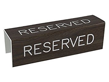 3 Sided Pew Reserved Sign (Church Cost Pew)