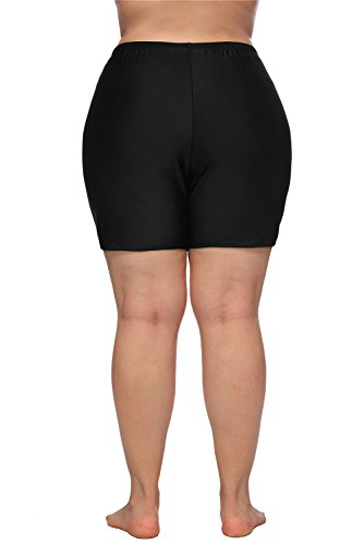 0288fa7366 ALove Women Plus Size Swim Shorts High Waist Board Shorts Stretchy Swimsuit  Bottoms