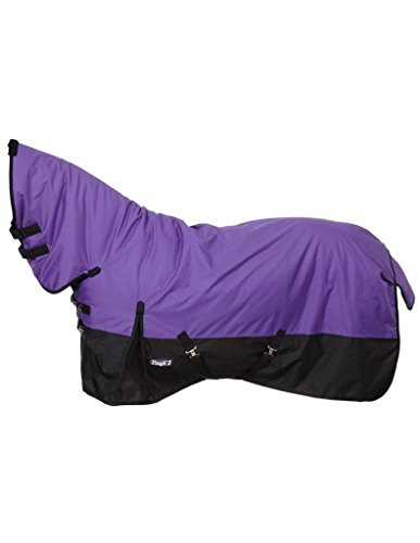 Tough 1 600D Waterproof Poly Full Neck Turnout Blanket, Purple, 75