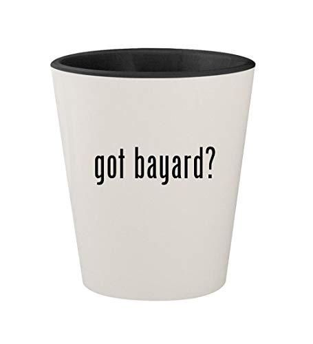 got bayard? - Ceramic White Outer & Black Inner 1.5oz Shot Glass (Bayards Chocolate)