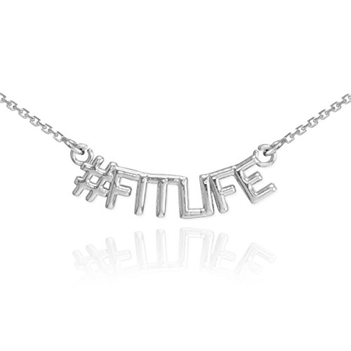 925 Argent Fin Collier #FITLIFE