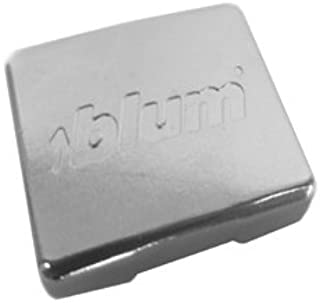 "product image for Pro Pack of 50Pcs, Compact Blumotion 38N Hinge Logo Cover Cap, Steel, (Embossed), ""Blum"""