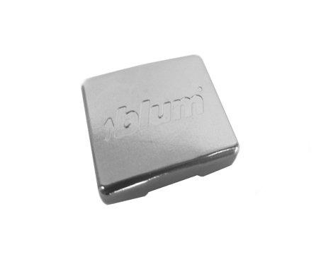 Pro Pack of 100Pcs, Compact Blumotion 38N Hinge Logo Cover Cap, Steel, (Embossed),
