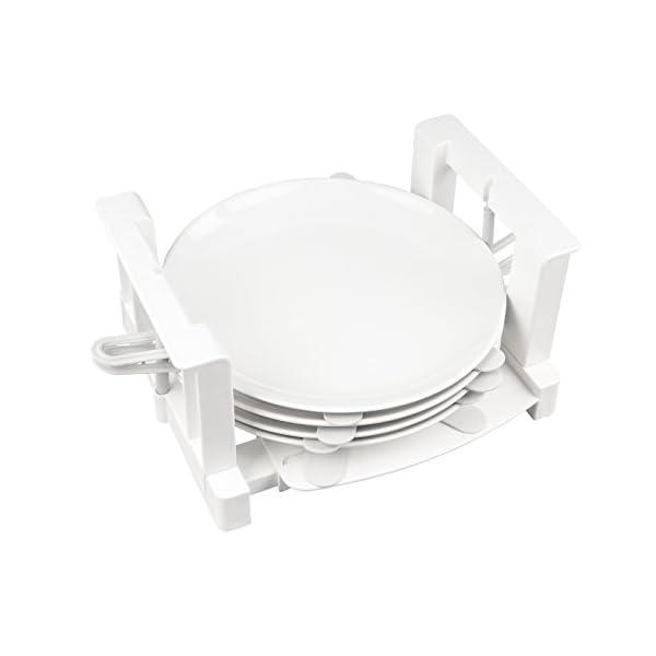 31XOzpV8uPL Froli Tellerhalter Wohnmobil Wohnwagen, 6 Teller Geschirrhalter, Kunststoff, Tellergrößen zwischen 200-300 mm (1)
