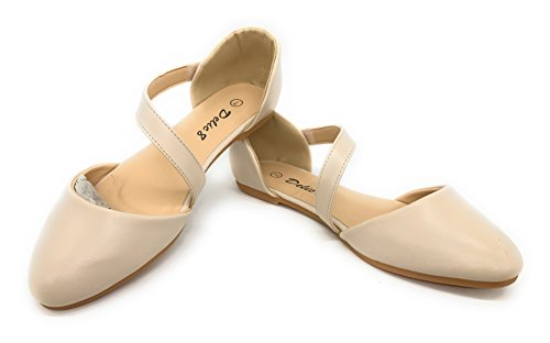 Blue Berry EASY21 Womens Casual Flats Ballet Ankle Strap Fashion Shoes