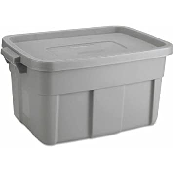Rubbermaid Roughneck Storage Box 14-Gallon Steel Gray  sc 1 st  Amazon.com & Amazon.com: Rubbermaid Roughneck Storage Box 14-Gallon Steel Gray ...