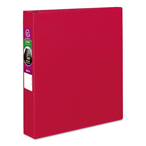 Avery 27202 Vinilo Rojo - Carpeta de cartón (Vinilo, Rojo, 375 hojas, 3.81 cm)