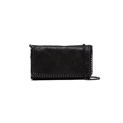 Stella Mccartney Women s 291622W81801000 Black Polyester Shoulder Bag 85%OFF 29086f3f29