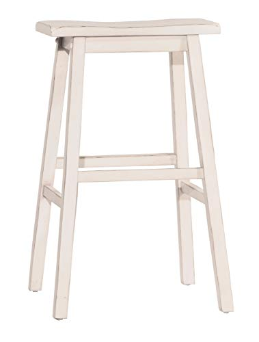 Hillsdale Furniture 5580-827A Moreno Non-Swivel, Sea Whitel Backless Counter Stool, Height, White