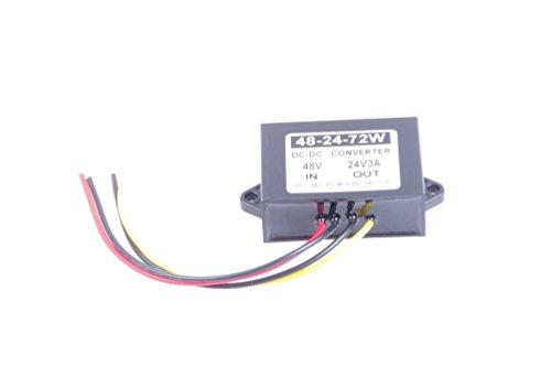 36V 48V 60V (30-60V) To 24V 1A 2A 5A 8A 10A 15A 20A 30A 40A 50A 60A DC-DC Waterproof Boost Converter Automatic Step Down Voltage Regulator Module Car Power Supply Voltage Transformer (24V 3A 72W)