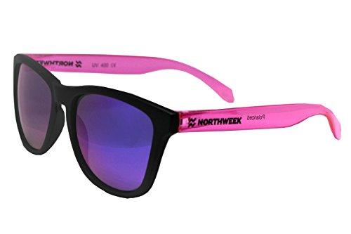de black lente sol Northweek bright polarizada purple matte pink Gafas qFTCqd