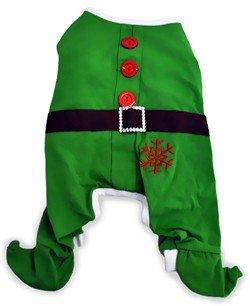 Dogit Christmas Elf Dog Pyjama, Large, Green, My Pet Supplies