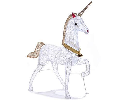Morning Star Market Magical Christmas LED LIGHTED UNICORN Indoor/Outdoor Yard Decoration Light Lawn Ornament Sculpture ()