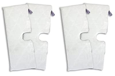 SHP-ZONE Replacement RECTANGLE Shark XL Microfiber Cleaning Pads for the Steam Pocket Mop, XLT3501 (EXTRA LARGE) (Set of 4)