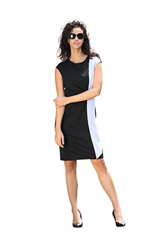 Cheap Dresses deviz queen office dress summer for women black and white color block