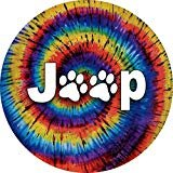Jeep Paws TIE DYE Spare Tire Cover 255/75r17