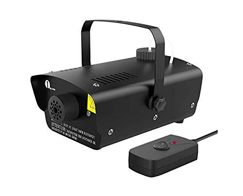 Halloween Fog Machine with Wired Remote Control, 450-Watt Smoke Machine for Holidays, Parties, Weddings, Black