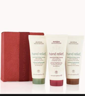 Aveda gift set of travel size moisturizing hand cremes in 3 different aromas - Limited - Mint Aveda Lotion