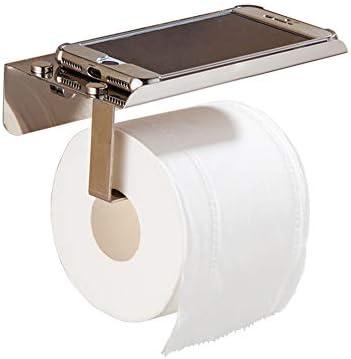 トイレットペーパーホルダー浴室用無料パンチングティッシュボックストイレットペーパーチューブステンレス鋼収納棚トイレクリエイティブロールホルダー