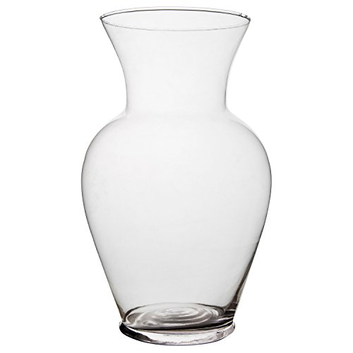 Flower Rose Bunch Glass Urn Vase Decorative Centerpiece For Home or Wedding (Fits Dozen Roses) by Royal Imports - 11