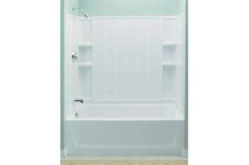 STERLING 71120118-0 Ensemble AFD Bath Tub and Shower Kit, 60-Inch x 32-Inch x 76-Inch, - Afd Bathtub