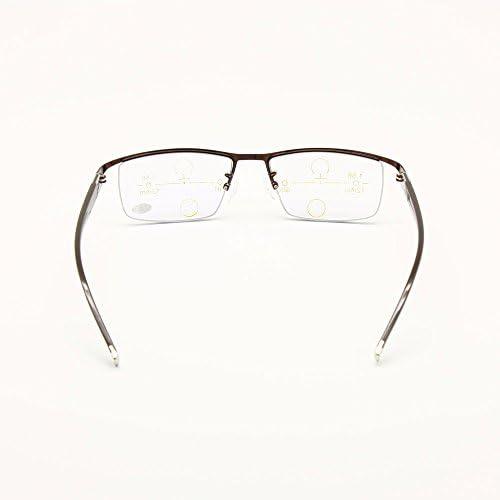 Rx Occhiali da sole lungimiranti da 0 a 300 per incrementi di 25 Transizione fotocromatica Progressiva Multi Focus Occhiali da lettura No Line Graduale