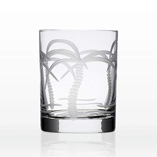 Rolf Glass 14 oz. Palm Tree Double Old Fashioned Glass One Size