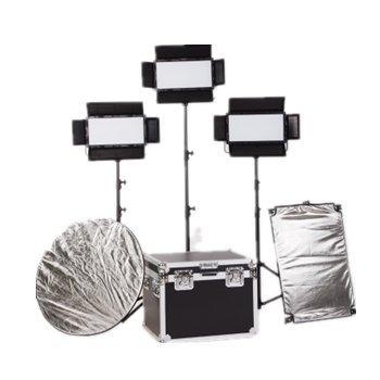 Falcon Eyes 32005D Pro LED200個 200W電源 3000K -5600K 色温度LEDパネルライトセット 2.6mスタンドライトとアルミニウムケース付き   B07G226XKV