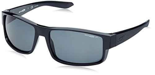 Arnette Men's Boxcar Polarized Rectangular Sunglasses, BLACK, 59 mm