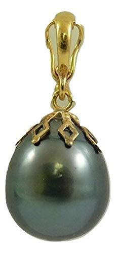 Tahitian 12.4 x 15.1 mm Pearl Pendant 14k Yellow Gold Enhancer ()