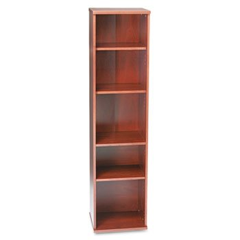 Bush Series C Open Single Bookcase, 5-Shelf, 17-7/8w x 15-3/8d x 72-7/8h, MCY, EA - (Open Single Bookcase)