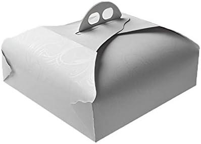 Artigian - Caja de Papel para Alimentos, pastelería, Porta Tartas Cuadrada, 190 x 190 x 20 mm: Amazon.es: Hogar