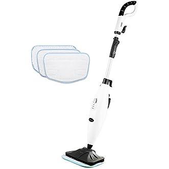 INLIFE Steam Mop Adjustable Steam 360 Degree Swivel Mop Floor Cleaner for Hard Floor