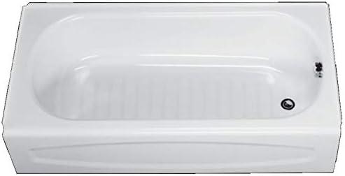 American Standard 0255.112.020 New Salem Soaking Bathtub Right Hand Outlet, 5-Feet, White
