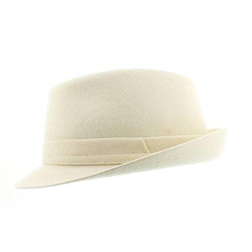 votrechapeau - Chapeau Trilby - Petit Bord - Avellino - Blanc