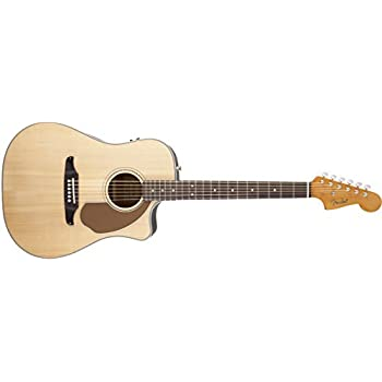 Fender Sonoran SCE Acoustic Electric Guitar, Rosewood Fingerboard, Natural (v2)