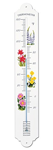 french-enamel-style-outdoor-garden-wall-thermometer-colorful-designs-28-in-flowers