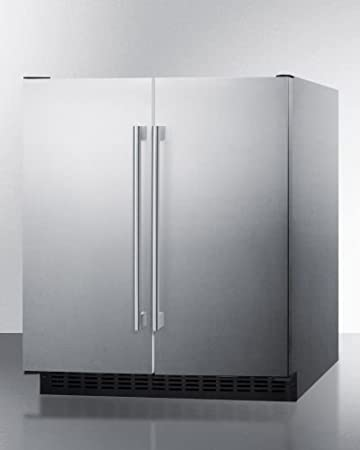 refrigerator alarm. summit ffrf3075wcss 30\u0026quot; side-by-side compact refrigerator and freezer with 5.4 cu alarm