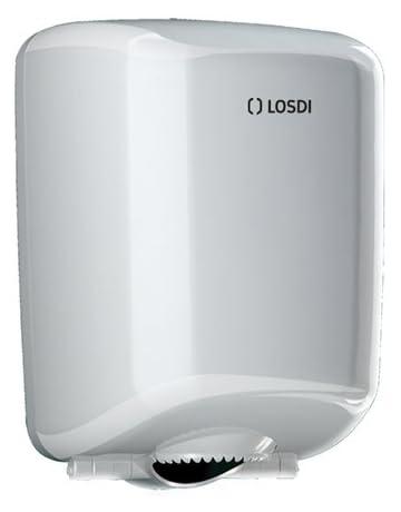 Losdi CP-521-B Dispensador Papel Mecha, Blanco
