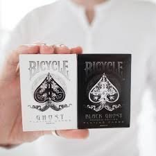 (*by Ambizu*) 2 Pack Ellusionist White & Black Ghost Deck Playing Cards Bicycle Magic Tricks