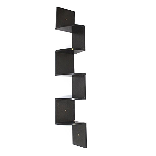 Square Wall Mounted Corner (Corneria 5 Tiers Large Corner Floating Wooden)