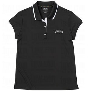 Adidas Perf Patch Polo Black L