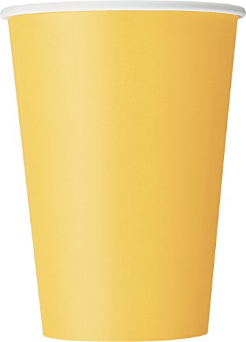 12oz Yellow Paper Cups, 10ct